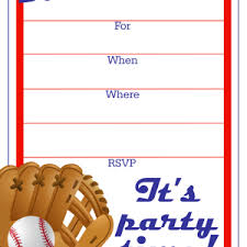 Boy Birthday Party Invitation Templates Free Baseball Birthday Invitation Free Baseball Invitation Template