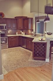 curved switch between wooden and mosaic tiles floor in the kitchen wood tile flooring28 wood