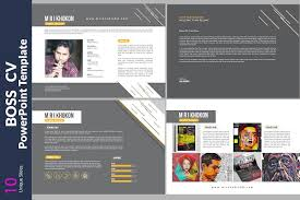 Boss CV PowerPoint Templates Fascinating Resume Powerpoint