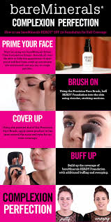 here s our guide to full coverage using bareminerals ready foundation a makeup tutorial for applying pressed powder foundation for radiant skin