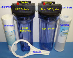 Whole House Sediment Water Filter House Filter With Bracket Dual 10 Clear Carbon Sediment