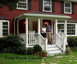 here s a traditional porch on the front of a cl ic new england