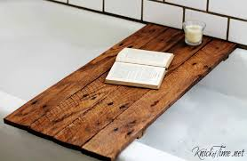 this easy diy bathtub tray is perfect to hold your drink and your favorite book while you soak diy instructions knick of time