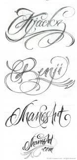 Tetování Písmo Vzor 3