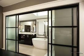 frosted sliding doors wide black framed frosted glass sliding door design for modern with regard to