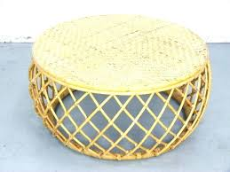 round rattan coffee table side table round wicker side table rattan coffee creative design inside rattan