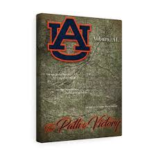 >auburn university custom artwork hex head art auburn path to victory canvas