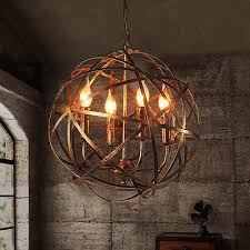 round metal sphere chandelier orb 17 light pendant oil rubbed bronze ballard