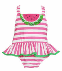 Claire & Charlie Baby / Toddler Girls Hot Pink Striped Watermelon ...