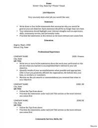 Resume Templates For College Studentss Amazing Internship Template
