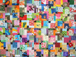 Disappearing Nine Patch Inspiration - a gallery on Flickr & Scrappy Disappearing Nine Patch top close up Adamdwight.com