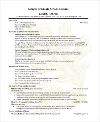 9+ Sample Graduate School Resumes | Sample Templates