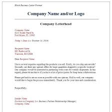 Microsoft Business Letter Templates Block Letter Format On Microsoft Word Business Letter Template