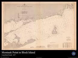 Nautical Map Of Long Island Sound And Block Island 1877
