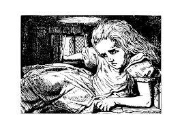 Kleurplaat Alice In Wonderland In Konijnenhuis Afb 19049