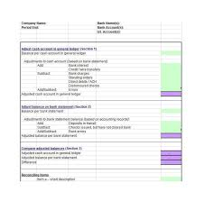 Check Reconciliation Template 50 Bank Reconciliation Examples Templates 100 Free