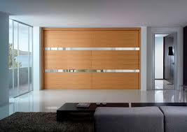 furniture large brown wooden sliding closet door connected by white floor contemporary design of