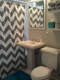 teal chevron shower curtains. Updated My Bathroom! West Elm Gray Chevron Shower Curtain, Sherwin Williams Passive Paint Color Teal Curtains I