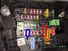 vwvortex com mk7 fuse diagram discussion fuse box issues it's accessed by opening said cubby and squeezing the sides, this will release the tabs and allow it to drop, after that just pull the door straight back