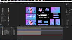 Youtube Channel Template Youtube Channel Pack After Effects Template Customization Tutorial