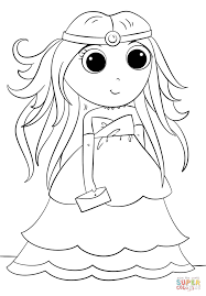 Anime Princess coloring page | Free Printable Coloring Pages
