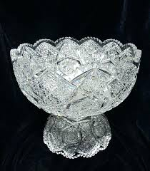 cut glass punch bowl with stand best vintage bowls images on brilliant period and