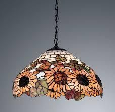 sunflowers tiffany style handcrafted pendant light
