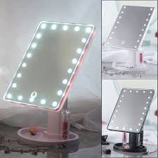 Vanity Light Up 22 Led Touch Screen Makeup Mirror Tabletop Cosmetic Vanity Light Up Mirror