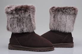 Original Design USA UGG Fox Fashion Short Boots 5825 Chocolate For Women