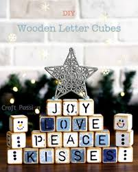 letter cubes with wooden blocks easy