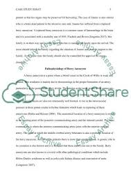 case study essay joanne ruptured berry aneurysm intracerebral related essays nursing case study