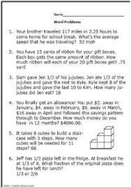 6th Grade Math Word Problems : Kelpies