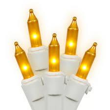 100 Count Mini Lights Vickerman 100 Count Icicle Mini Light Set White Wire Yellow