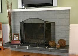 Gray Brick Fireplace Grey Brick Fireplace Ideas