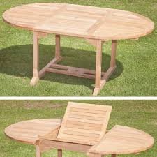 Extending Outdoor Dining Table Teak Round Extending Outdoor Dining Table 120 180cm