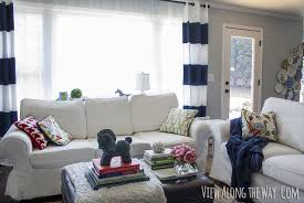 living room curtain panel ideas. a striped curtain tutorial living room panel ideas i