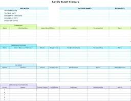 Travel Itinerary Template Word Trip Schedule Field Planner