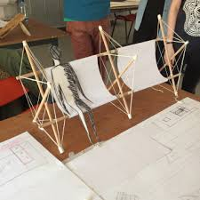 tensegrity furniture exploration model first model for the project tensegrity furniture o76 tensegrity