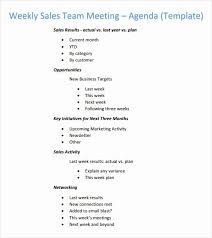 Sales Meeting Agenda Sales Meeting Agenda Template Awesome Weekly Agenda Template