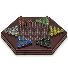 Wooden Game With Marbles YMI Chinese Checkers Halma Marble Wooden Game Set w Drawers 81