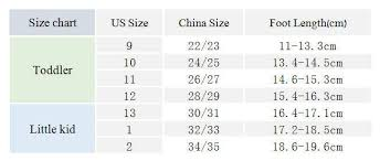 Chinese Shoe Size Chart For Toddlers Best Picture Of Chart