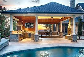 Outdoor Kitchen Designs With Pool New Design