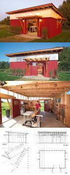 Shed Plans - Shed / Workshop / Garden Shed style. Love the high windows/