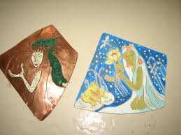 Милли бизәкләргә гашыйк Ижау кызы Су анасы эшенең эскизы һәм тимердән эшләнгән өлеше