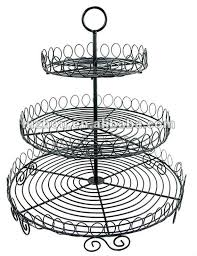 Iron wire cake stands for wedding cakes/ 3 tiers cupcake stand