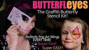 erfleyes graffiti erfly stencil face painting kit and bonus tutorial you