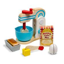 Melissa And Doug Retro Kitchen Melissa Doug Wooden Make A Cake Mixer Set 11 Pcs Play Food
