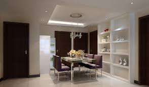 Dining Room:Plush Dining Room Ceiling Decor Idea Deep Tray With White  Scheme Interior Integrated