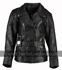 3 4 long demi black womens biker jacket