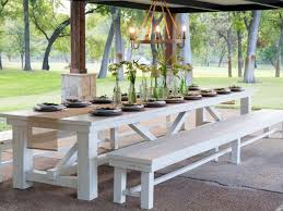 outdoor wood dining table. Fixer Upper: Yours, Mine, Ours And A Home On The River | HGTV\u0027s Upper With Chip Joanna Gaines HGTV Outdoor Wood Dining Table L
